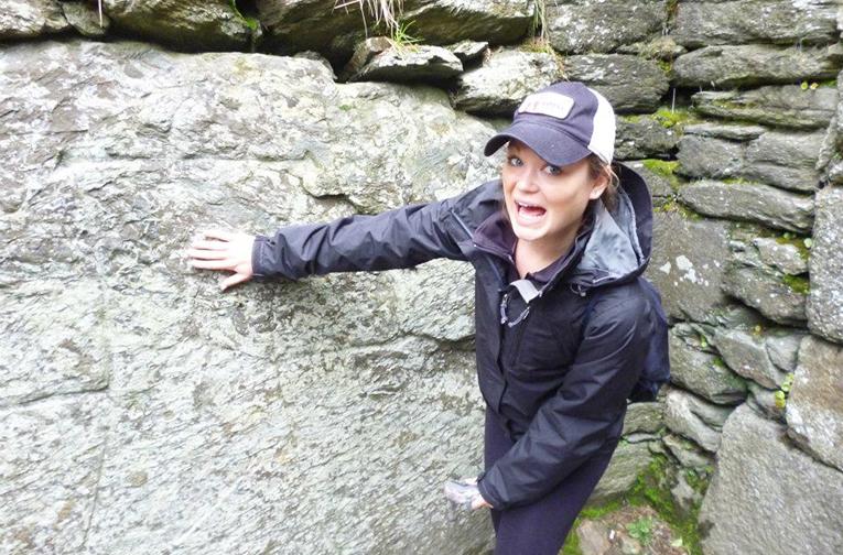 Woman sightseeing in Ireland
