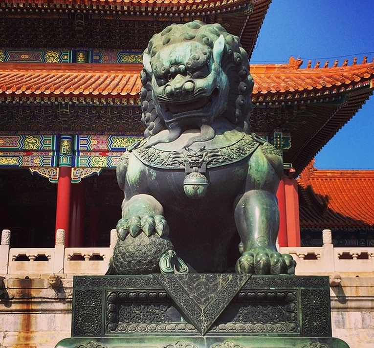Statue in the Forbidden City in China