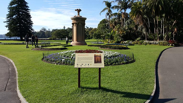 ANZAC memorial the botanical gardens in Sydney, Australia
