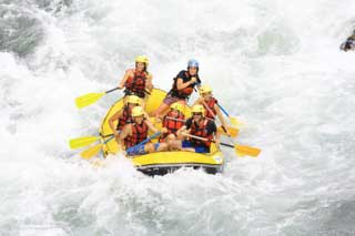 Whitewater rafting in the Pyrenees