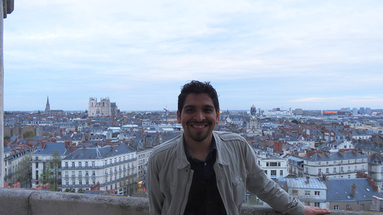 Overlooking Nantes in France