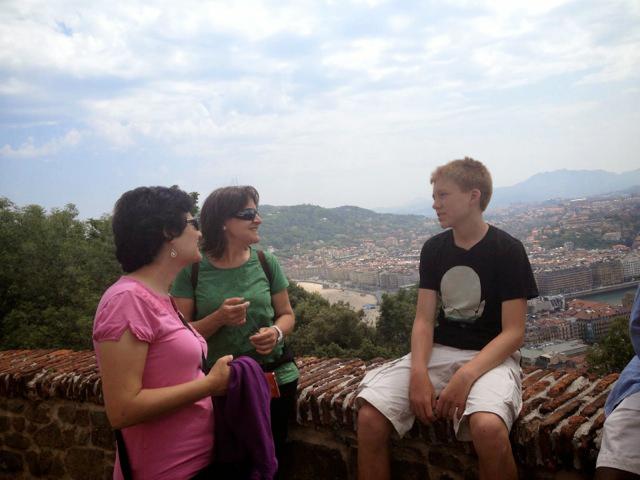 View overlooking San Sebastian, Spain