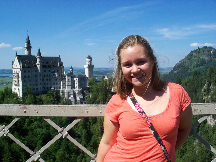 A view of Neuschwanstein Castle in Germany