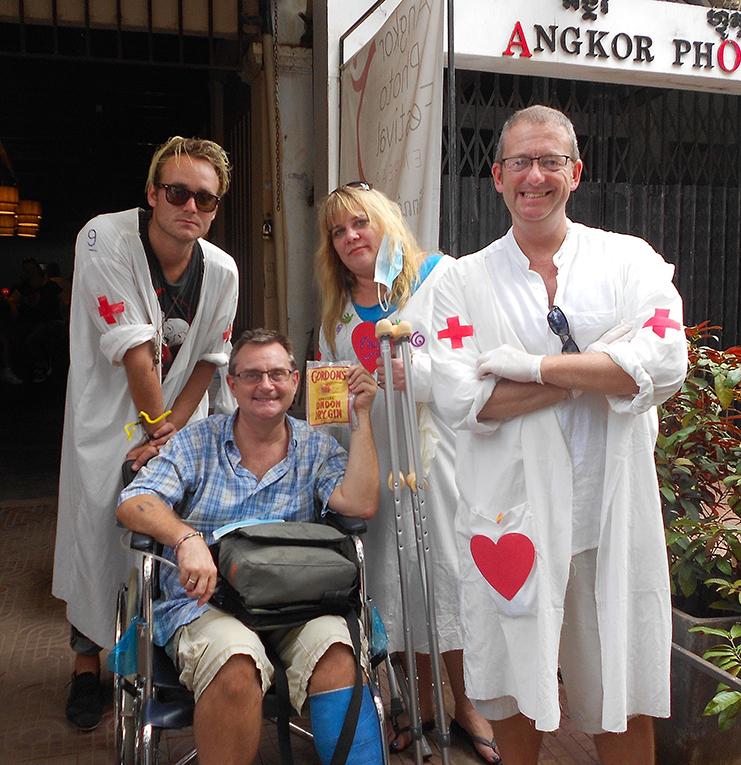 Fundraising volunteers in Siem Reap, Cambodia