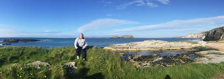 Panorama of the coastline in Northern Ireland