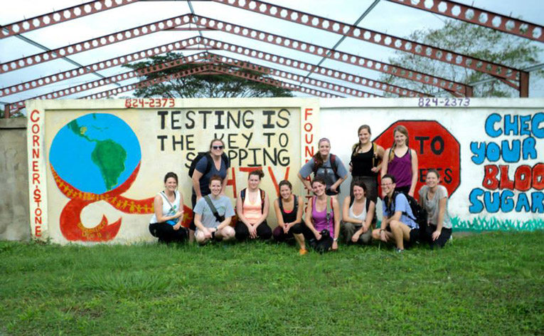 HIV and Diabetes awareness mural in Belize
