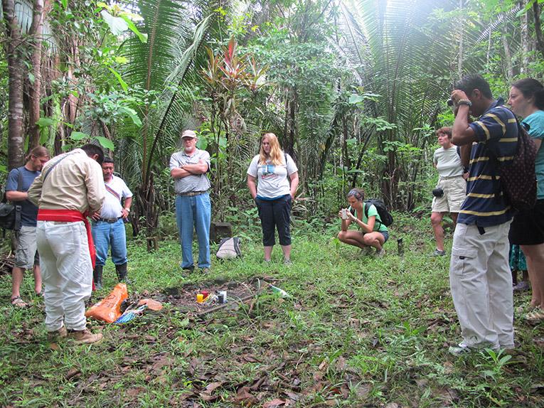 Qeqchi Spiritual Guides performing a Maya spiritual ceremony in Belize