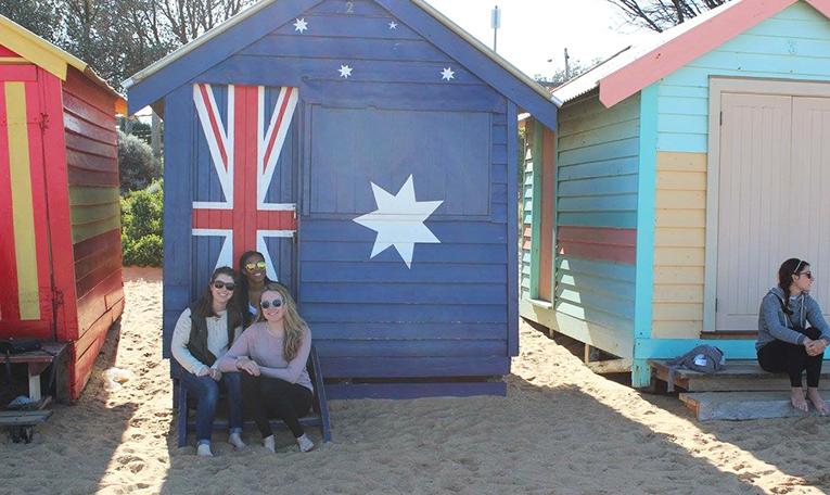 Beach houses in Melbourne, Australia