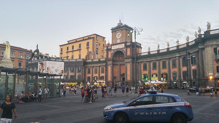 Piazza Dante in Naples, Italy