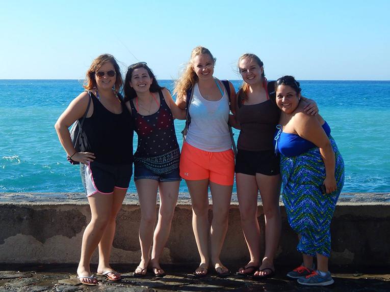 Girls on the Mediterranean coast