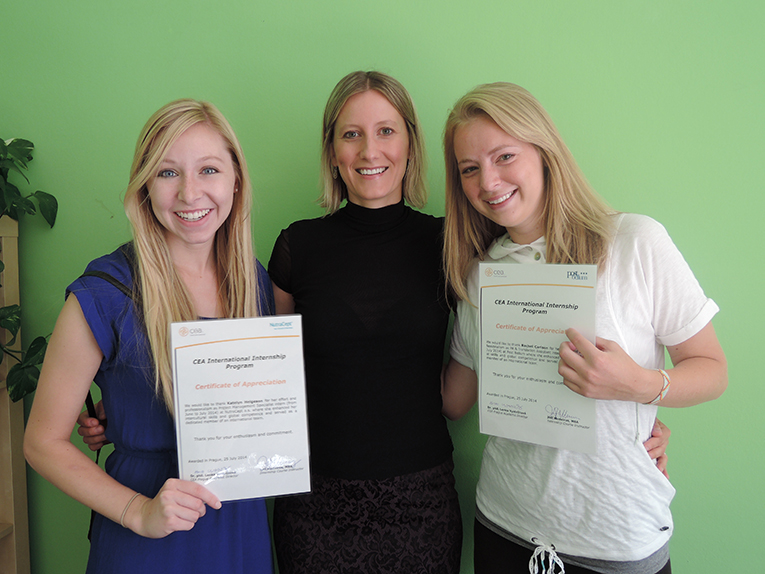 CEA Study Abroad international internship participants with their certificates of completion