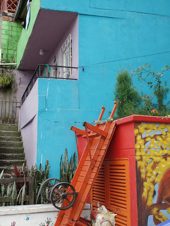 Colorful buildings in Medellin, Colombia