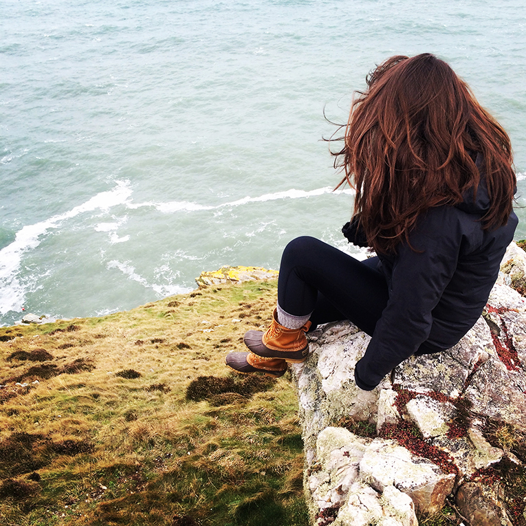 The cliffs in Howth village near Dublin, Ireland