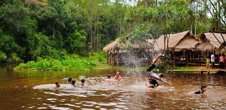 Swimming at Kirirom National Park