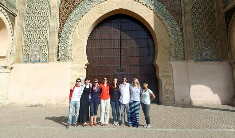 Meknes city gate, Morocco