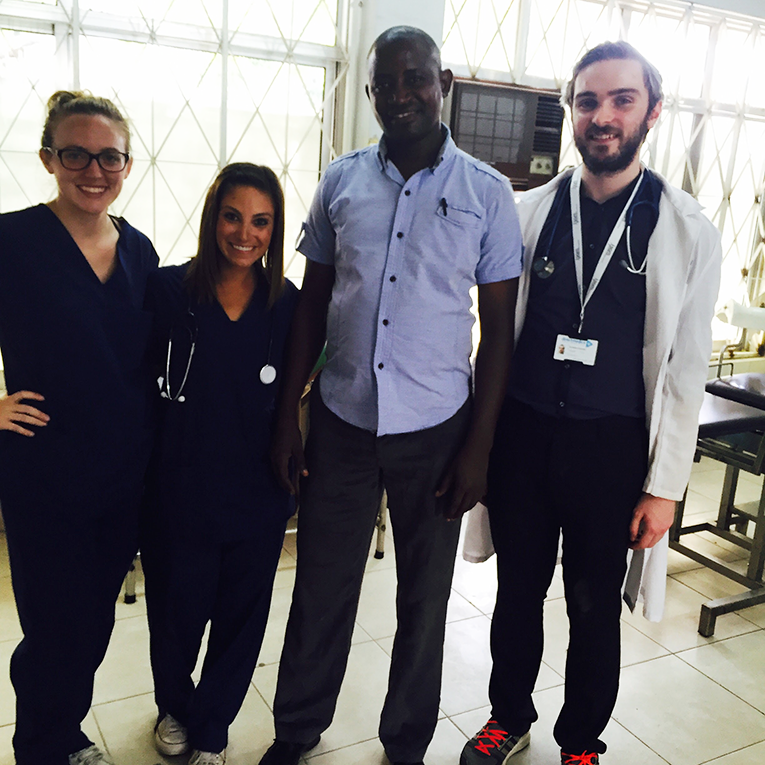 Volunteers and doctors at Sinza Palestina Hospital in Tanzania