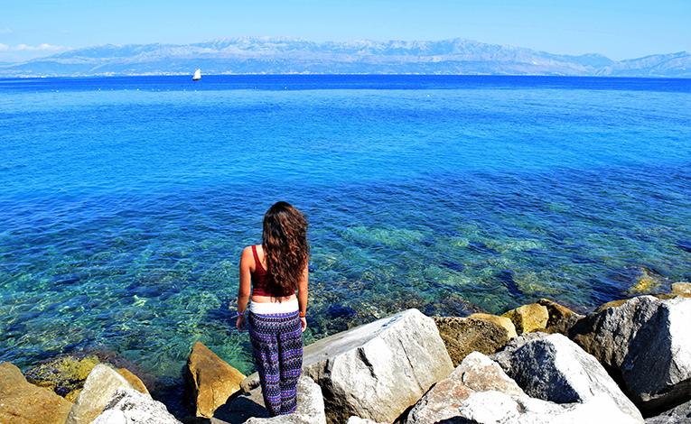 Clear blue waters in Split, Croatia