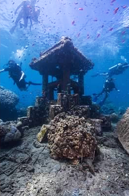 Scuba diving in Amed, East Bali, Indonesia