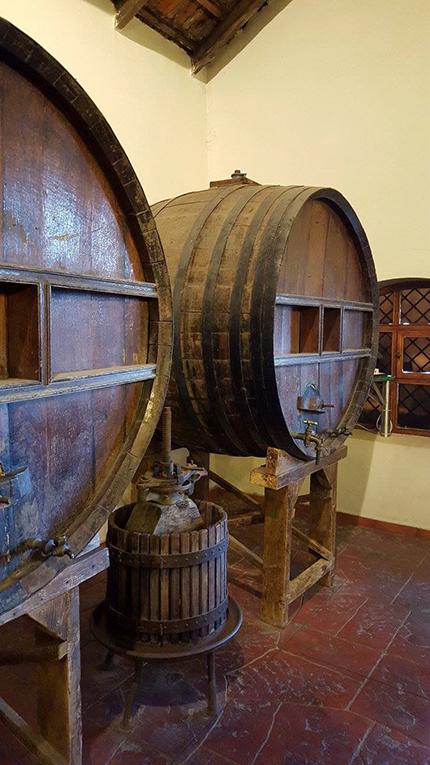 Cellars at the Ksara winery in Zahle, Lebanon