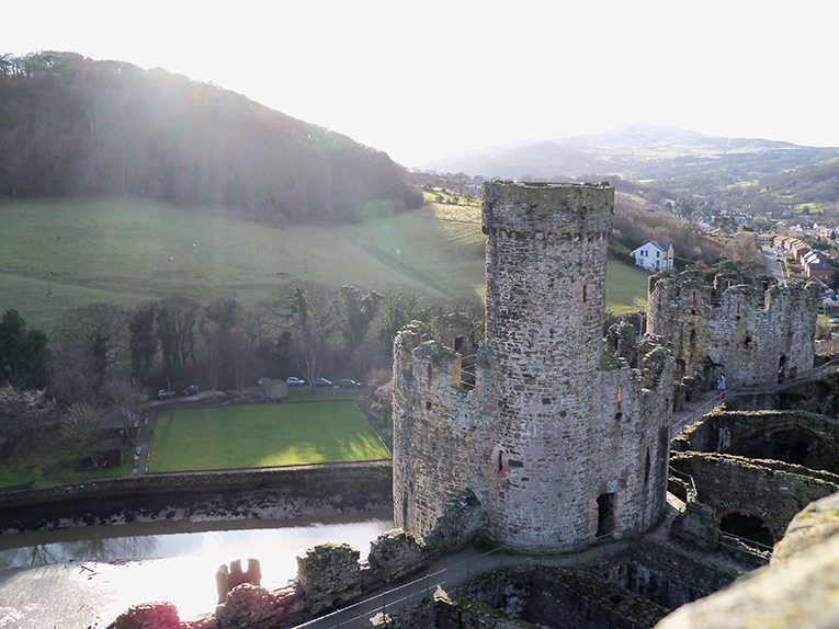 Castle in Conwy, Wales