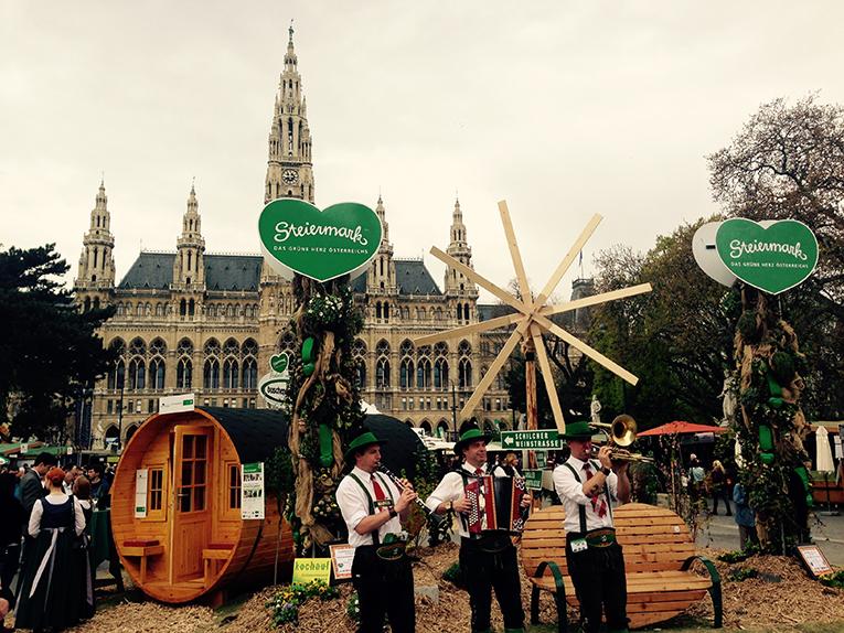 Styria Festival in front of Rathaus in Vienna, Austria