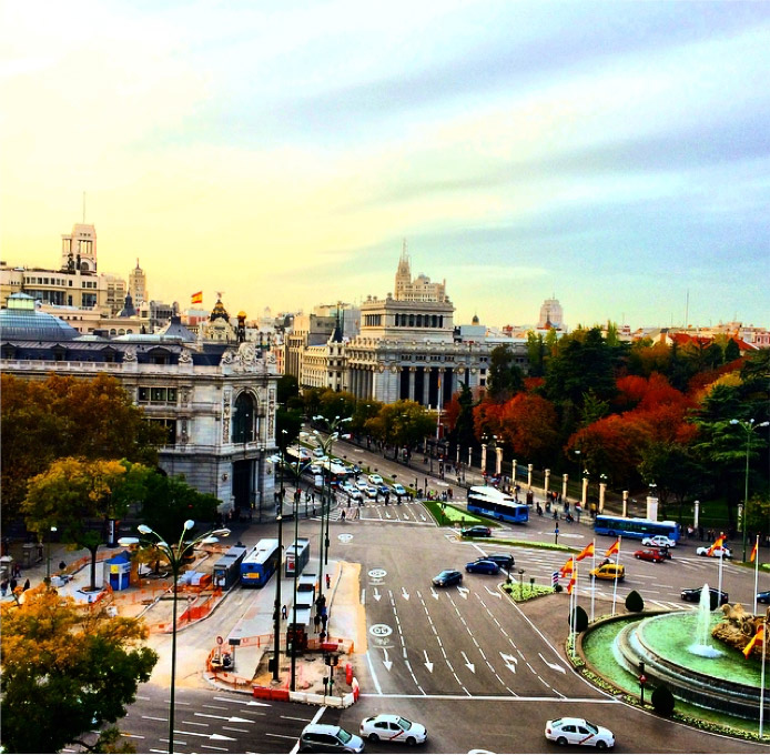 View of Plaza de Cibeles, Madrid, Spain