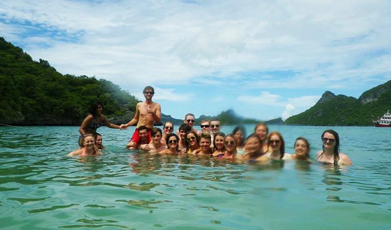 Swimming at Ang Thong National Marine Park in Thailand