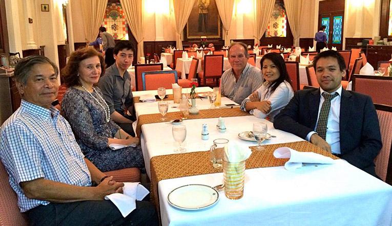 Asia Internship Programme Global Board at a dinner meeting