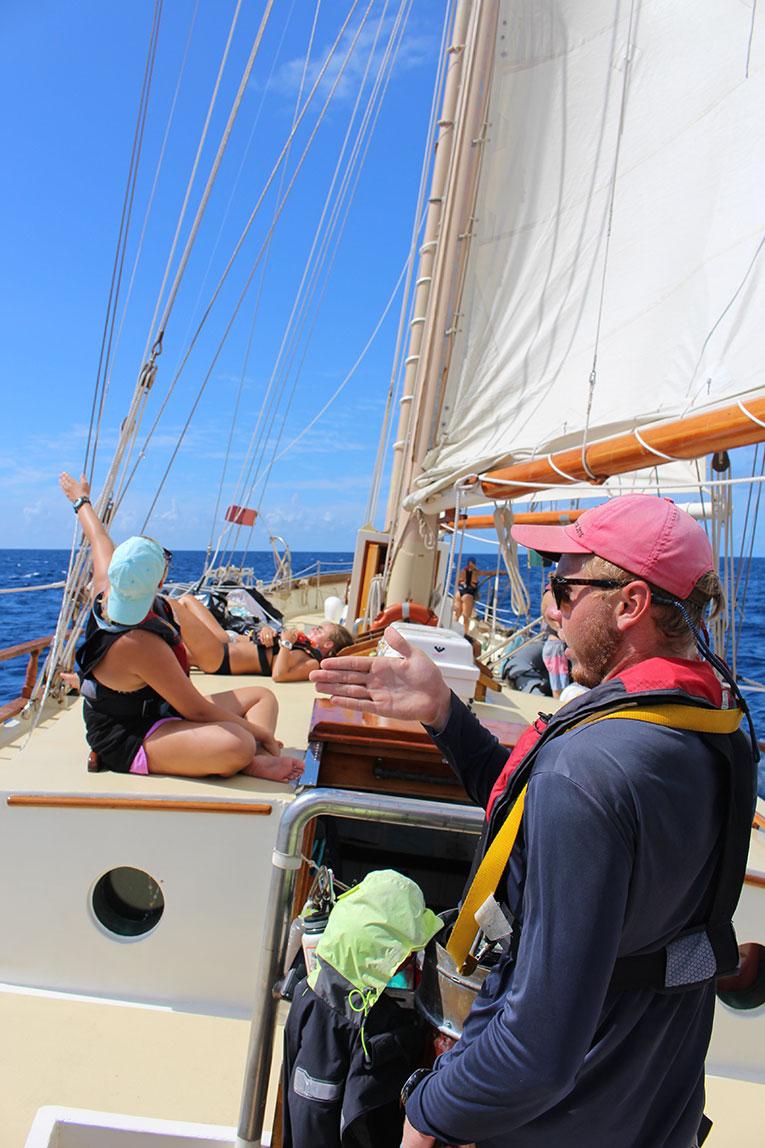 Sailboat near Saba island