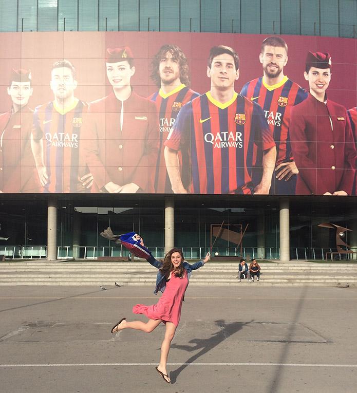 Camp Nou Stadium in Madrid, Spain