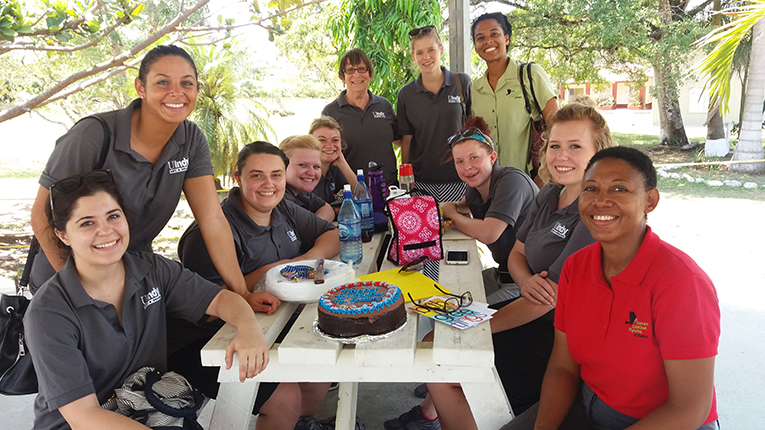 University of Indianapolis study abroad students in Belize
