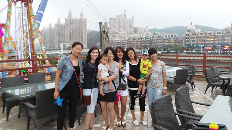 View at Dalian Port in China
