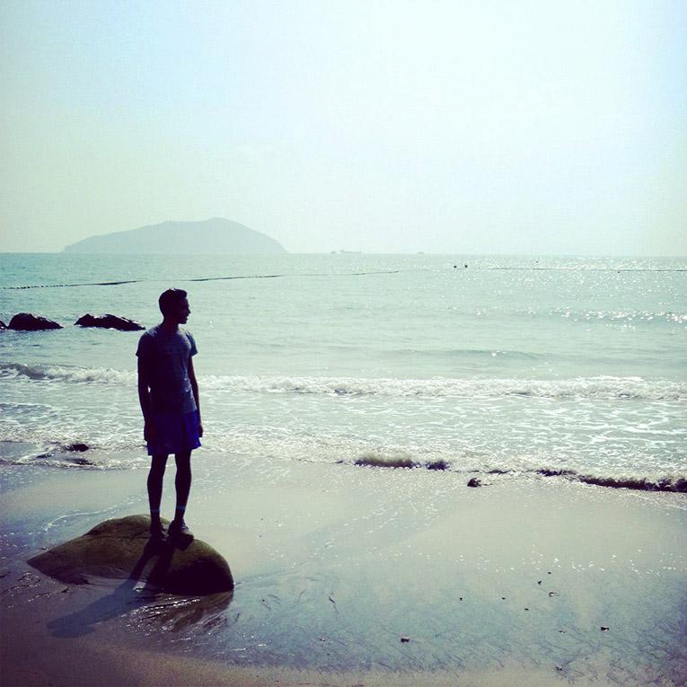 Beach in Cheng Seng, Hong Kong