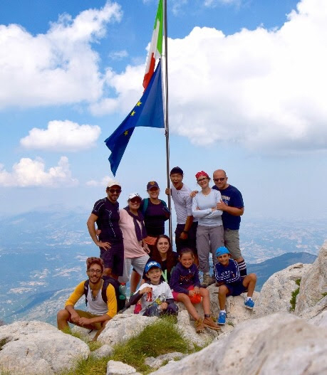 The summit of Gran Sasso in Italy