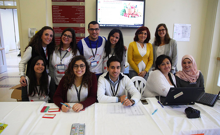 Office of International Programs staff and mentors at The American University of Beirut