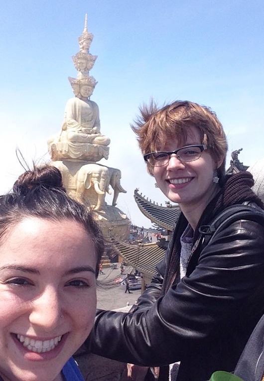 Statue at the top of Mount Emei