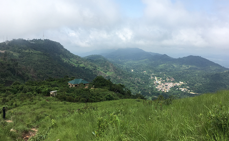 Top of Mount Gemi in Amedzofe, Ghana