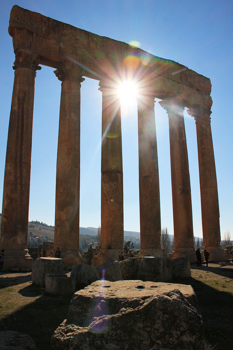 The ruins at Baalbek in Lebanon