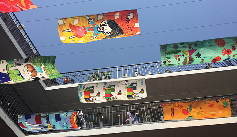 Banners in South Korea