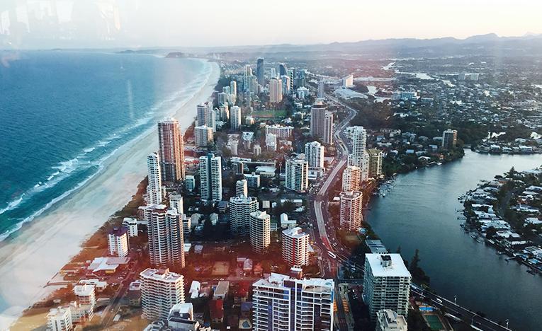 View of Gold Coast, Australia