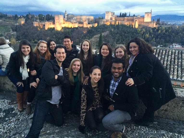International students at La Alhambra in Spain