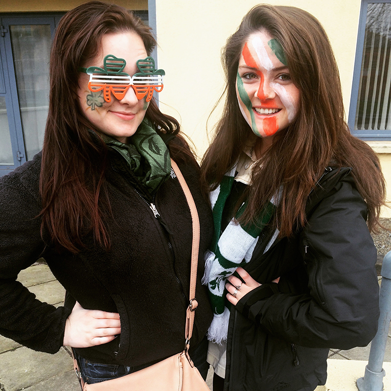 St. Patricks Day celebrants at Croke Park in Dublin, Ireland