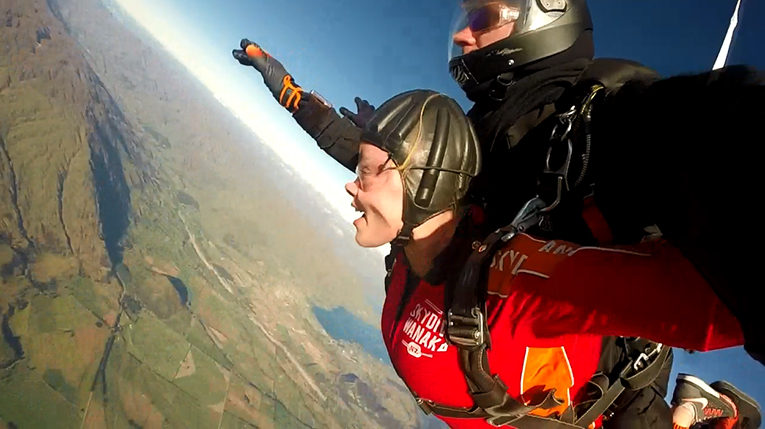 Skydiving in Lake Wanaka, New Zealand