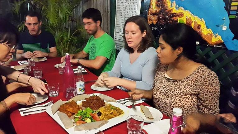 Eating Eritrean food in Australia