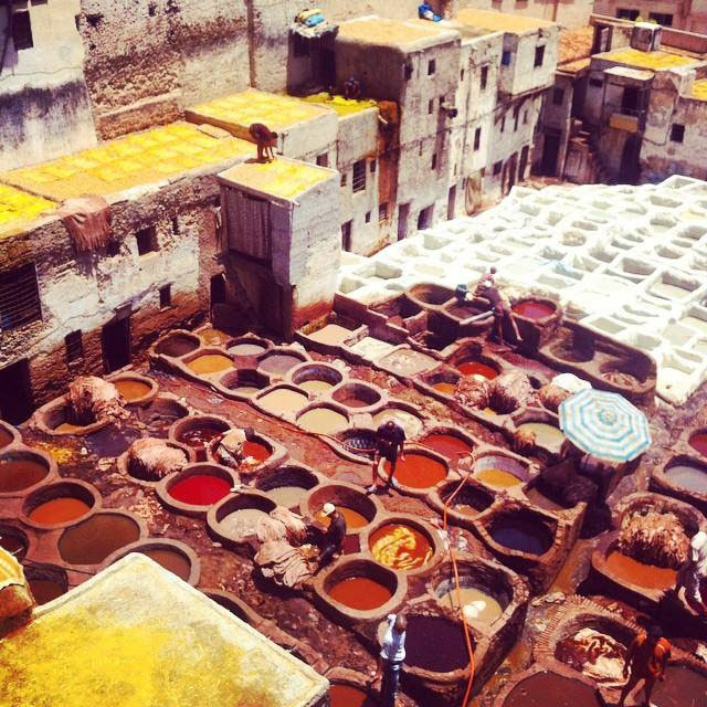 Leather tannery in Fes, Morocco