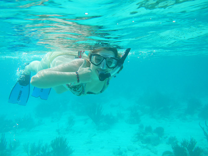 Snorkeling in Belize.