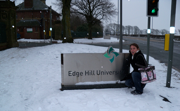 Edge Hill University sign in England
