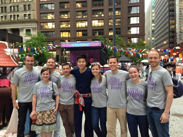 The Education Abroad Network Staff at the Thai Festival in Chicago, USA