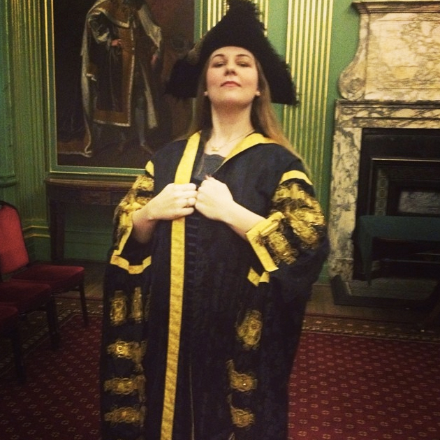 Trying on the Lord Mayor of York robes at the York City Council