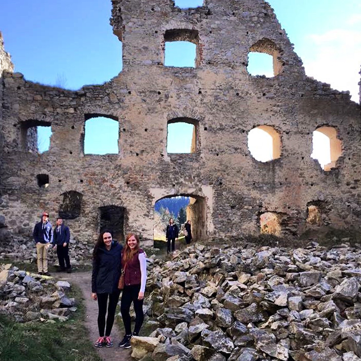 Castle ruins in the Czech Republic